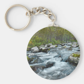 Relaxing Forest River Keychain