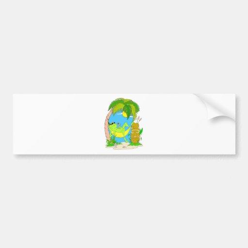 Relaxing Frog Car Bumper Sticker