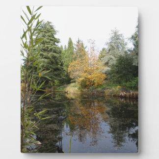 Relaxing garden scene picture, beautiful trees... plaque