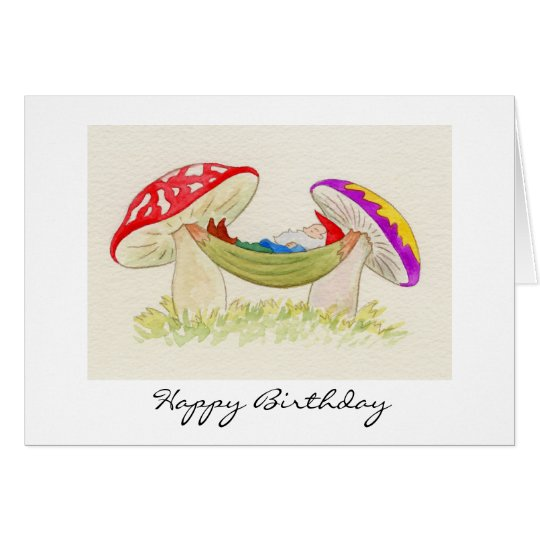 Relaxing gnome birthday card zazzle relaxing gnome birthday card bookmarktalkfo Image collections