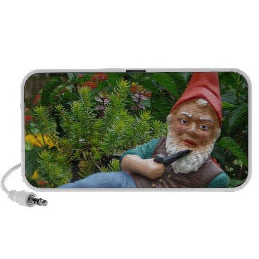 Relaxing Gnome with Santa Cap iPhone Speakers