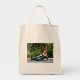 Relaxing Gnome with Santa Cap Tote Bag