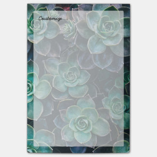 Relaxing Green Blue Succulent Cactus Plants Post-it Notes