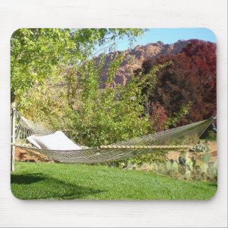 Relaxing Hammock in Sunshine Mouse Pad