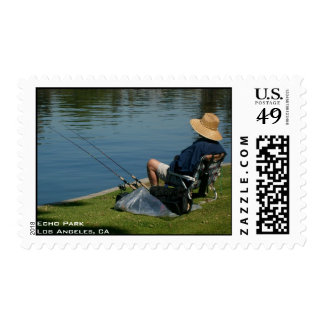 Relaxing in Echo Park Postage