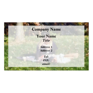 Relaxing in the Park Double-Sided Standard Business Cards (Pack Of 100)