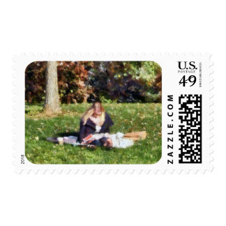 Relaxing in the Park Postage