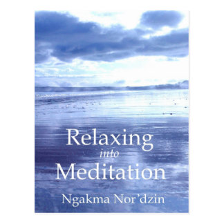 Relaxing into Meditation Publicity 01 [postcard] Postcard