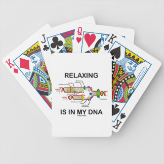 Relaxing Is In My DNA (DNA Replication) Bicycle Playing Cards