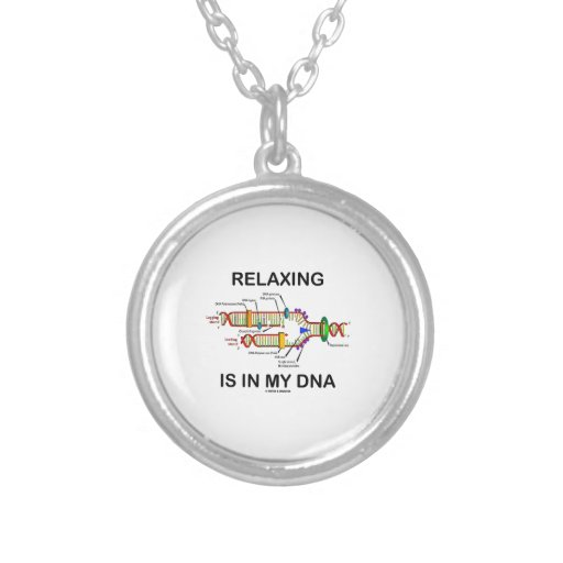 Relaxing Is In My DNA (DNA Replication) Round Pendant Necklace
