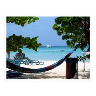 relaxing jamaica postcard