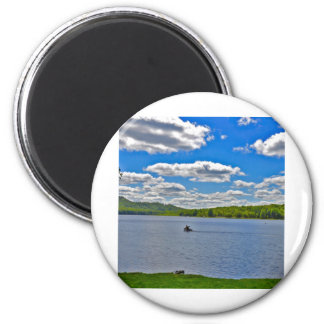 Relaxing Lake 2 Inch Round Magnet