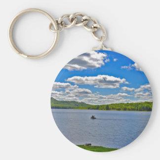 Relaxing Lake Keychain