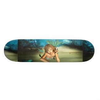 Relaxing Mermaid Skateboard