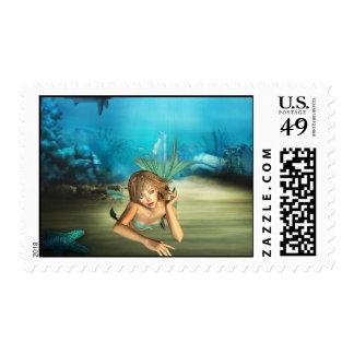 Relaxing Mermaid Stamp