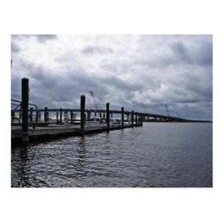 Relaxing Ocean City Dock Overcast (New Jersey) Postcard