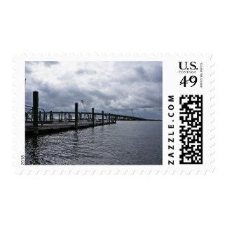 Relaxing Ocean City Dock Overcast (New Jersey) Stamp