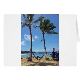 Relaxing on a Hawaii Beach Card