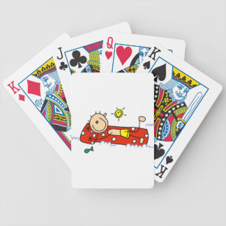Relaxing on Air Mattress Bicycle Playing Cards
