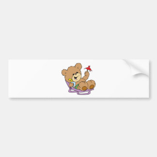 relaxing on vacation teddy bear design bumper stickers