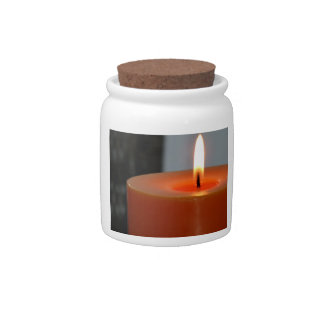 Relaxing Orange Candle 1 Candy Jars