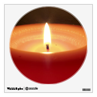 Relaxing Orange Candle 2 Wall Stickers