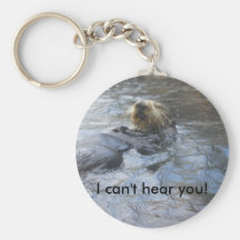 Relaxing otter keychains