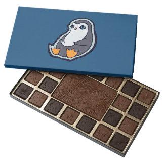 Relaxing Penguin Sweet Big Eyes Ink Drawing Design 45 Piece Box Of Chocolates