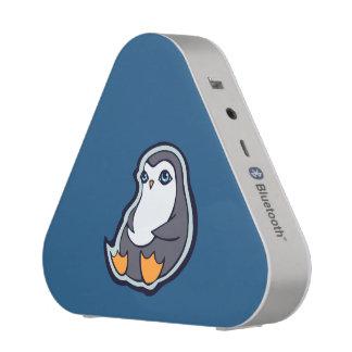 Relaxing Penguin Sweet Big Eyes Ink Drawing Design Bluetooth Speaker