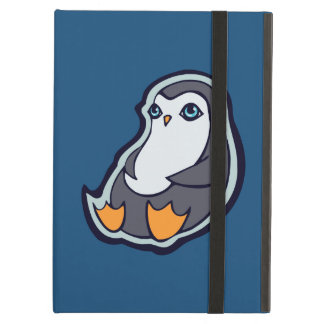 Relaxing Penguin Sweet Big Eyes Ink Drawing Design Case For iPad Air