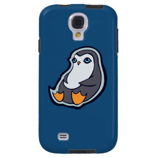 Relaxing Penguin Sweet Big Eyes Ink Drawing Design Galaxy S4 Case
