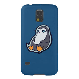 Relaxing Penguin Sweet Big Eyes Ink Drawing Design Galaxy S5 Case