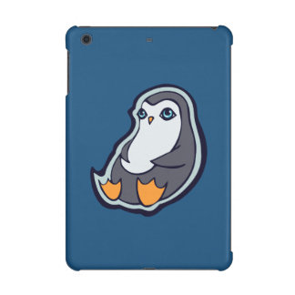Relaxing Penguin Sweet Big Eyes Ink Drawing Design iPad Mini Case