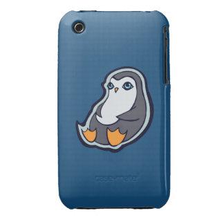 Relaxing Penguin Sweet Big Eyes Ink Drawing Design iPhone 3 Case