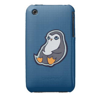 Relaxing Penguin Sweet Big Eyes Ink Drawing Design iPhone 3 Case-Mate Case