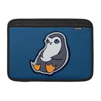 Relaxing Penguin Sweet Big Eyes Ink Drawing Design MacBook Air Sleeves