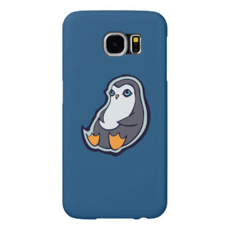 Relaxing Penguin Sweet Big Eyes Ink Drawing Design Samsung Galaxy S6 Cases