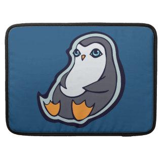 Relaxing Penguin Sweet Big Eyes Ink Drawing Design Sleeve For MacBooks