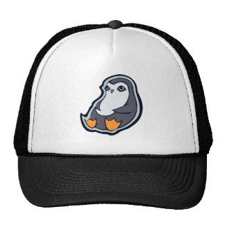 Relaxing Penguin Sweet Big Eyes Ink Drawing Design Trucker Hat