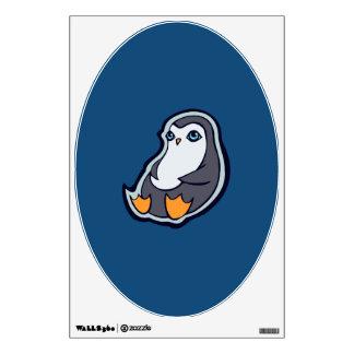 Relaxing Penguin Sweet Big Eyes Ink Drawing Design Wall Sticker