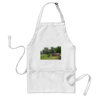 Relaxing Picnic Area Adult Apron