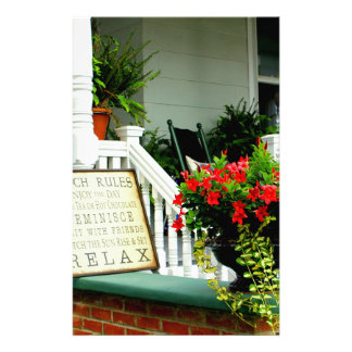Relaxing Porch Stationery