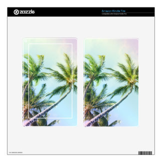 Relaxing Rainbow Color Palms Skins For Kindle Fire