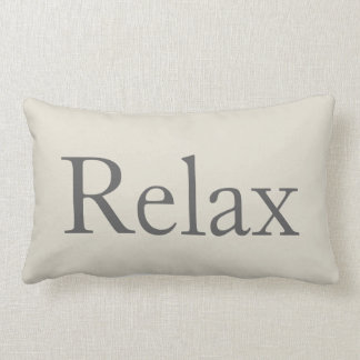 Relaxing Relax Throw Pillow Guest Room Decor