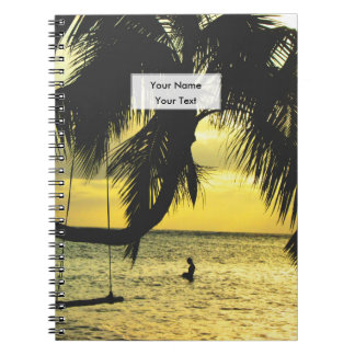 Relaxing Romantic Beach Scence Notebook
