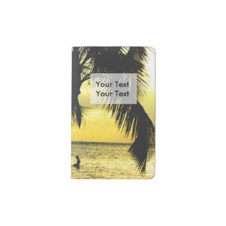 Relaxing Romantic Beach Scence Pocket Moleskine Notebook