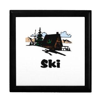 Relaxing Ski Lodge Jewelry Box