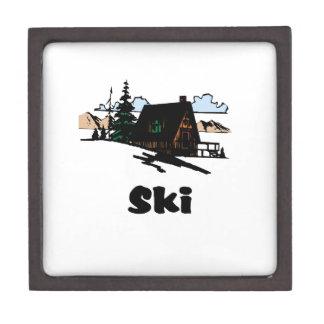 Relaxing Ski Lodge Keepsake Box