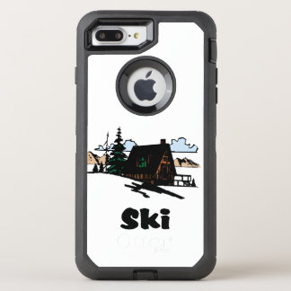 Relaxing Ski Lodge OtterBox Defender iPhone 7 Plus Case