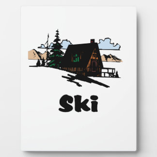 Relaxing Ski Lodge Plaque